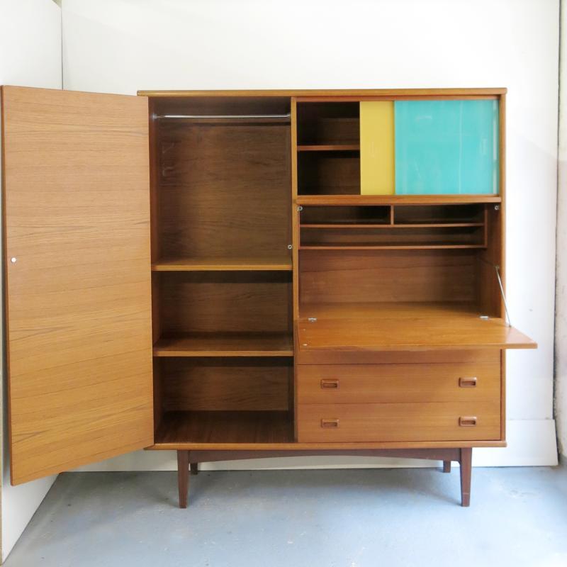 armoire penderie secretaire scandinave with penderie scandinave. Black Bedroom Furniture Sets. Home Design Ideas
